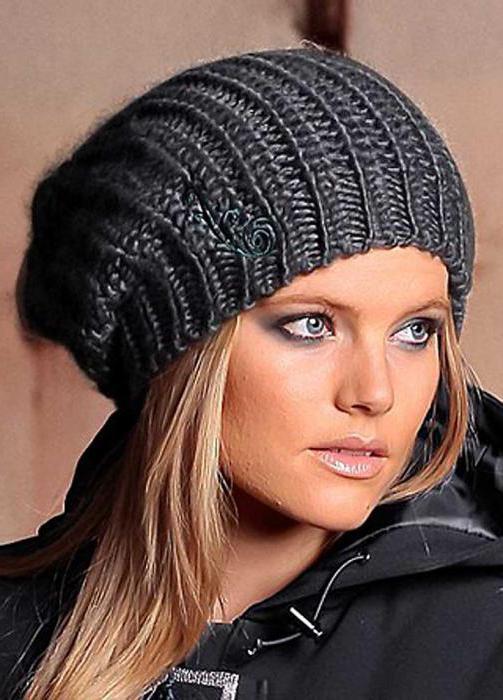 вязаные шапки спицами объемный рисунок шапки спицами для женщин